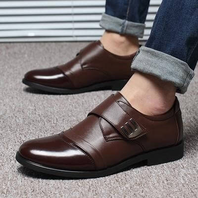 Men Hand Sew Oxfords Leather Flat Shoes - FashionzR4U