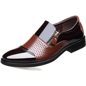 Men Hollow Out Microfiber Leather Shoes