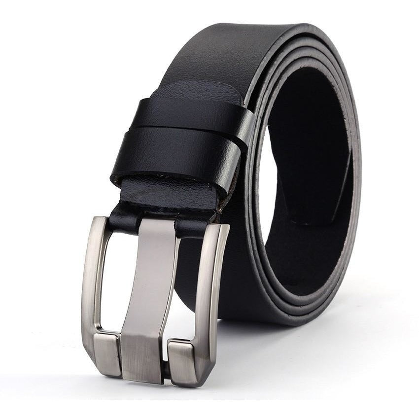 Men Leather Strap Pin Buckle Design Belts - FashionzR4U