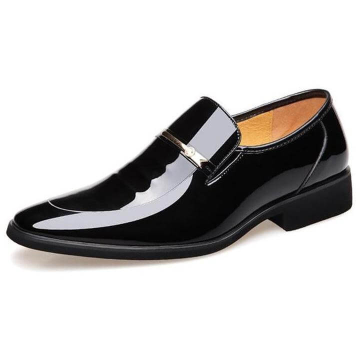 Men Oxford Pointed Dress Leather Shoes - FashionzR4U