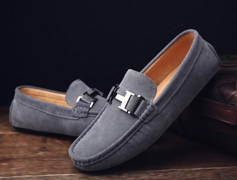 Men Slip On Casual Moccasins Leather Flats Shoes