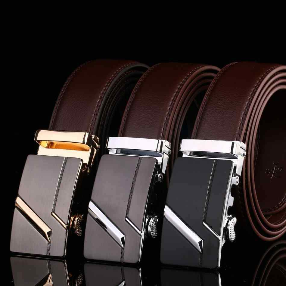 Men's Leather Automatic Buckle Masculino Belt