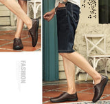 Men Leather Casual Brogue Style Shoes - FashionzR4U