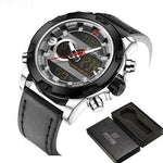 Men's Quartz Waterproof Sports Leather Military Watch - FashionzR4U