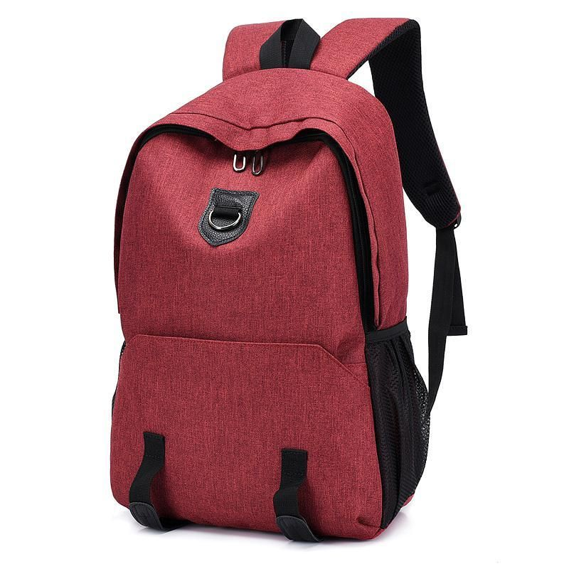 Unisex 15.6 Inch Laptop Book Bags External USB Charge Students School Backpack