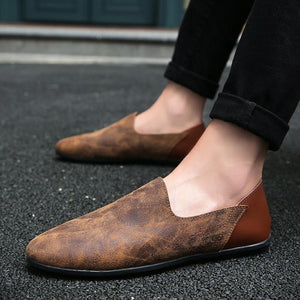 Men Comfortable Soft Suede Leather Loafers - FashionzR4U