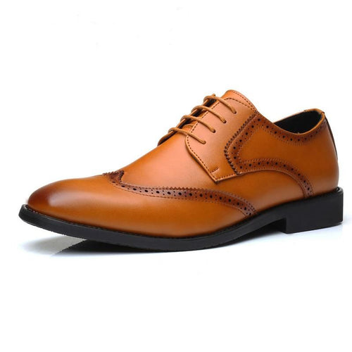 Men Merkmak Lace Up Brogue Casual Leather Shoe - FashionzR4U