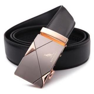 Men Metal Automatic Buckle Strap Leather Belt - FashionzR4U
