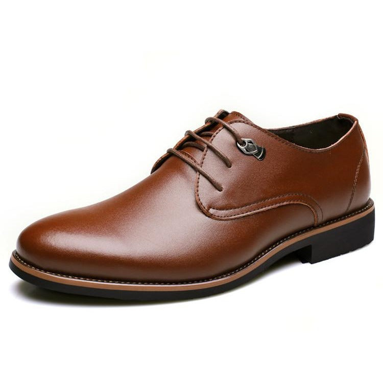 Men Simple Style Oxford Lace Up Leather Shoes - FashionzR4U