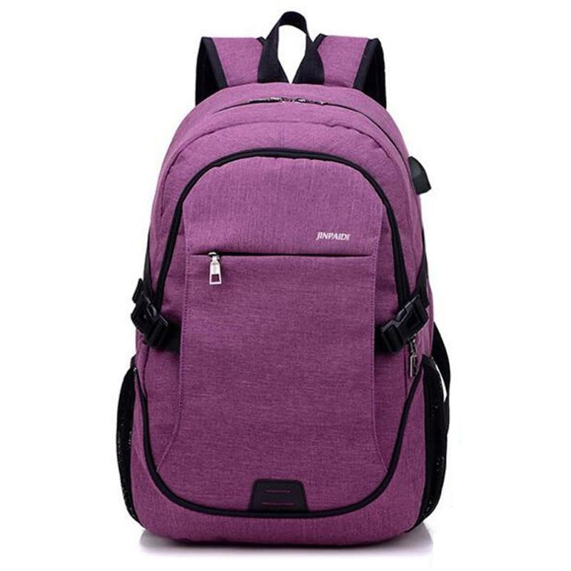 Multi Compartments USB Charging Laptop Backpack - FashionzR4U