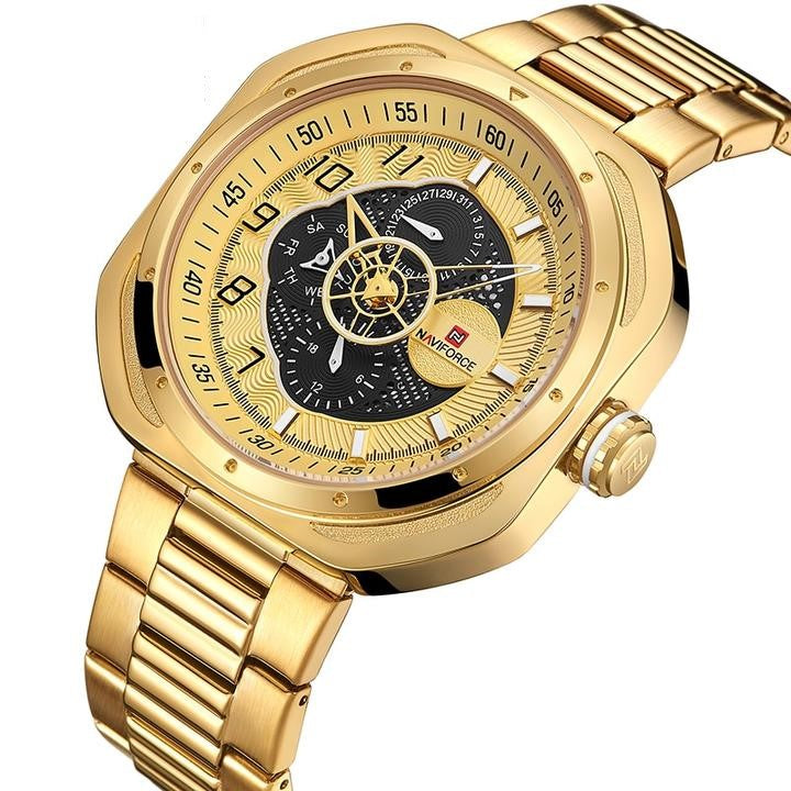 Men Top Luxury Casual Stainless steel Band Quartz Watch - FashionzR4U