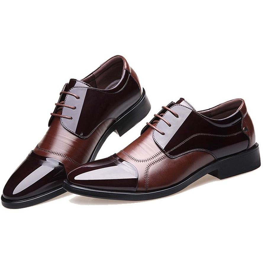 Men Oxford Business Leather Casual Shoes - FashionzR4U