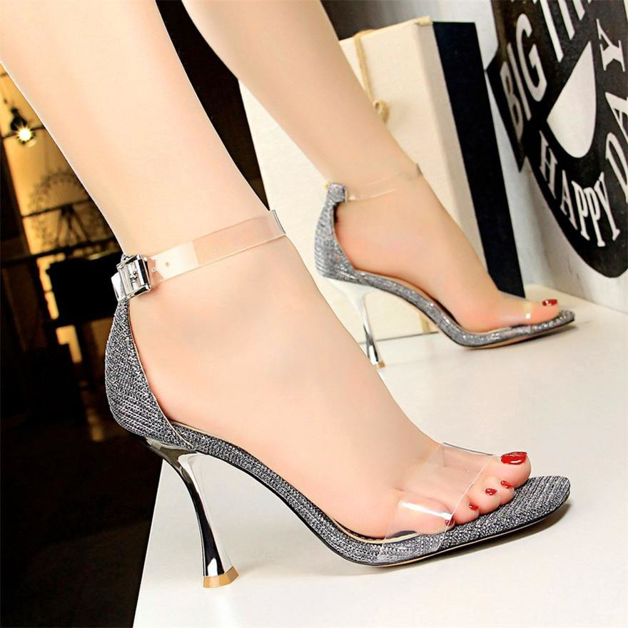 Women Transparent Buckle Shoes - FashionzR4U