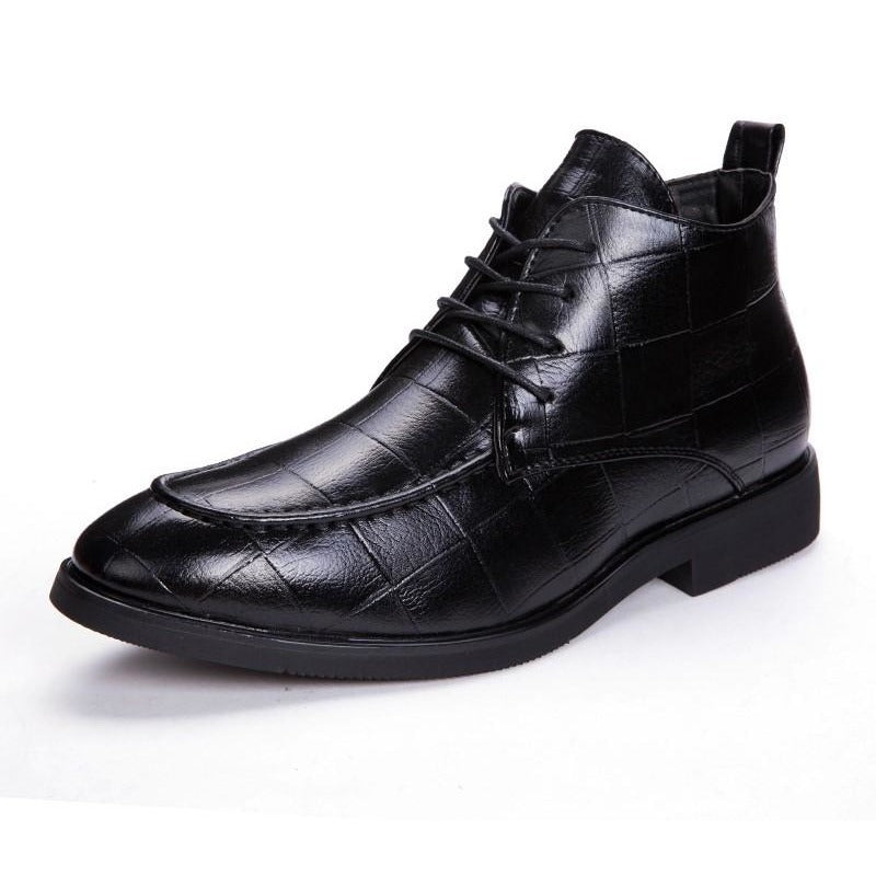 Men High Top Leather Handmade Boots - FashionzR4U