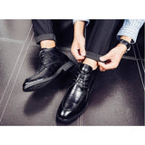 New Design High Top Men`s Leather Handmade Shoes