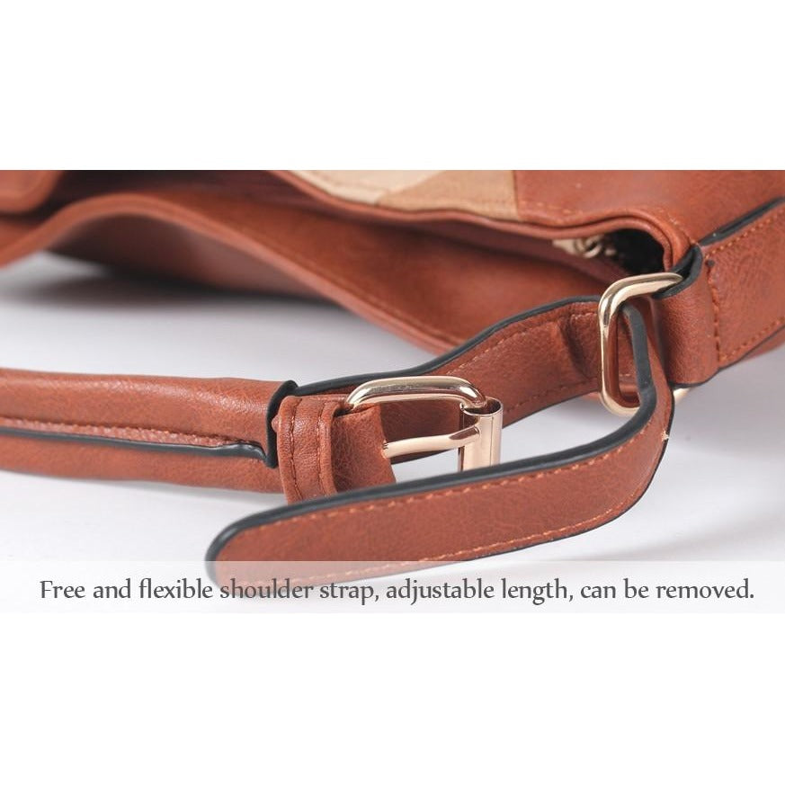 Women Patchwork Luxury Design Leather Handbag - FashionzR4U