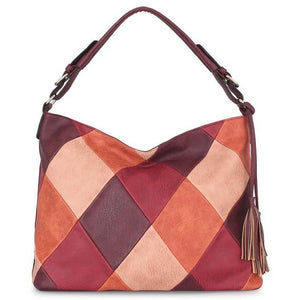 Patchwork Luxury Designer Leather Handbag - FashionzR4U