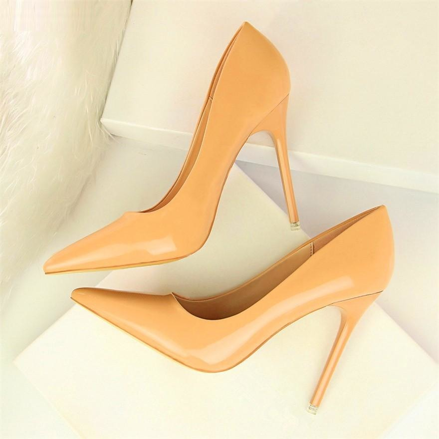 Women Patent Leather High Heels Shoes