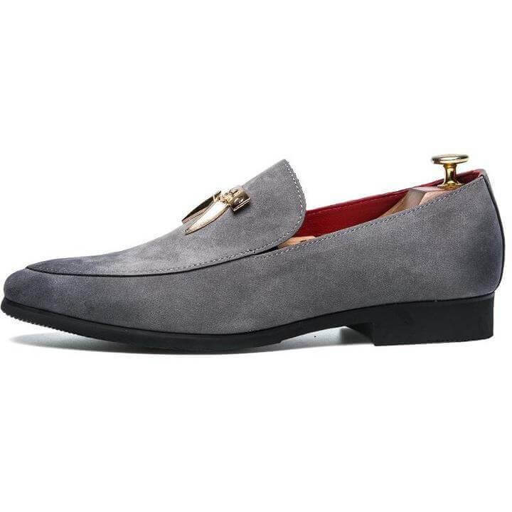 Men Pointed Toe Leather Men Slip On Shoes - FashionzR4U