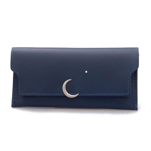 Women Simple Model Long Slim Long PU Leather Purse - FashionzR4U