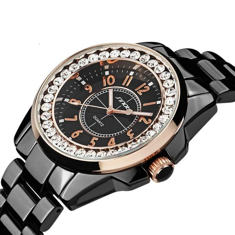 Women SINOBI Fashion Luxury Quartz Stainless Steel Watch