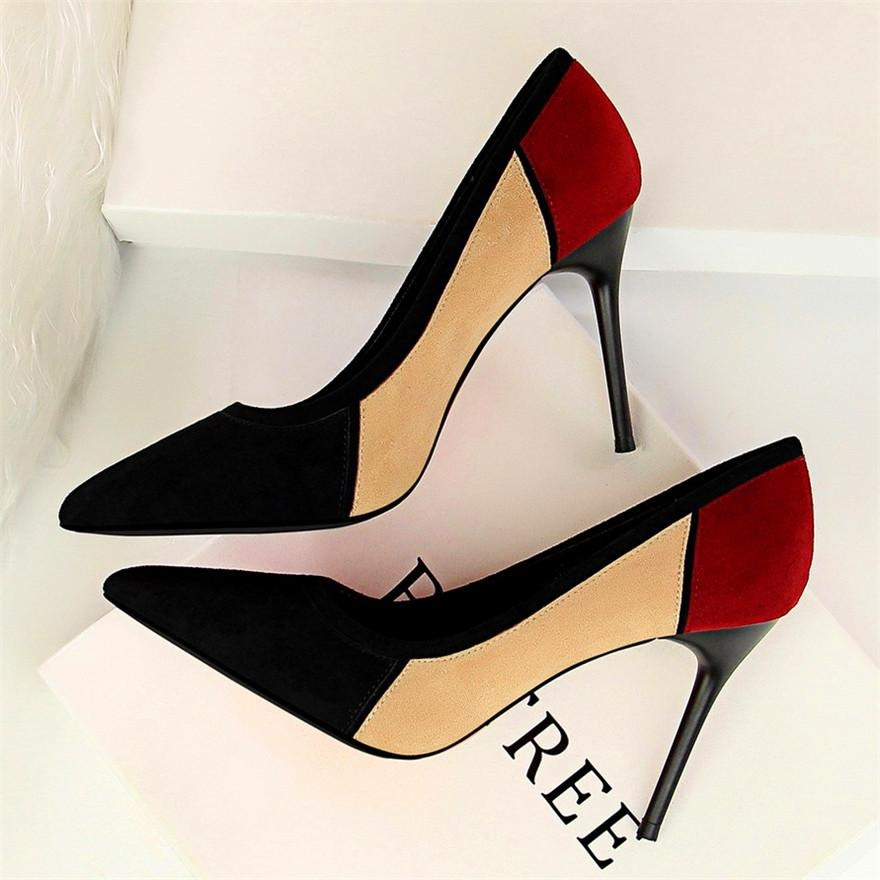 Women Multicolored Thin Heel Shoes - FashionzR4U