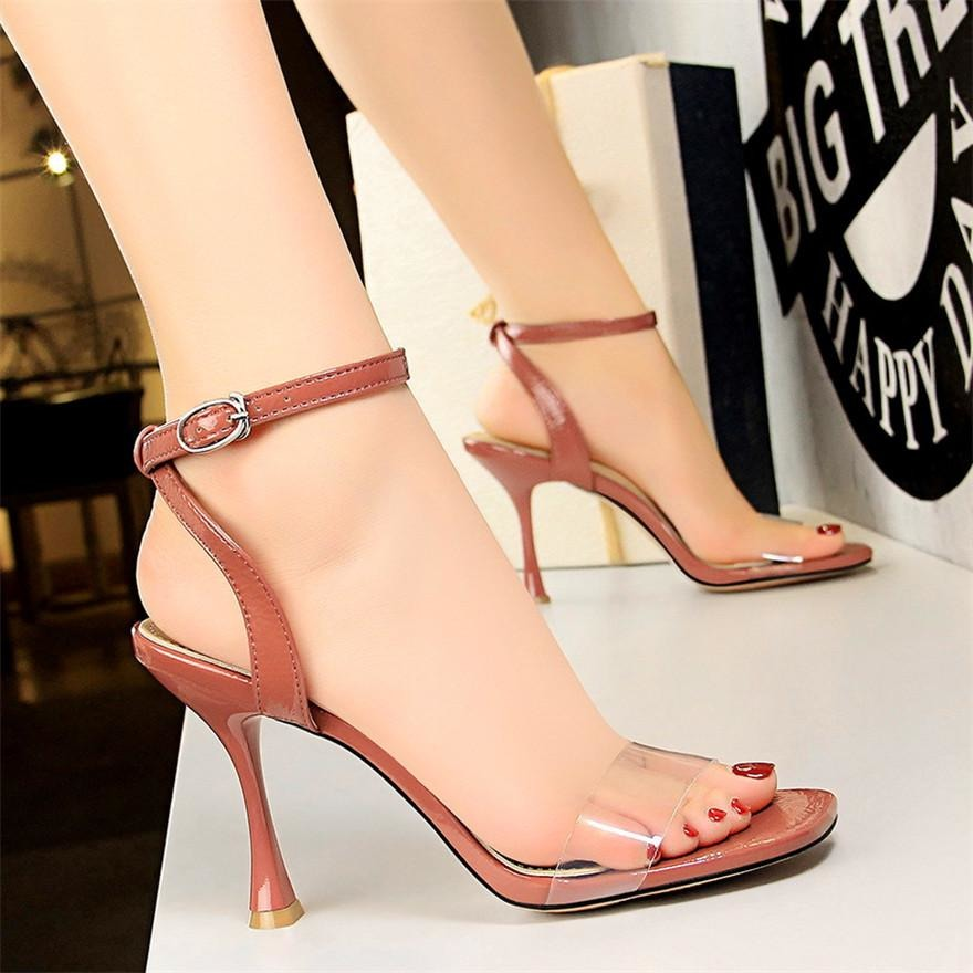 Women Transparent Concise Buckle Shoes - FashionzR4U