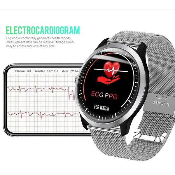 Men N58 ECG Heart Rate Monitor Support Electrocardiogram Smartwatch - FashionzR4U