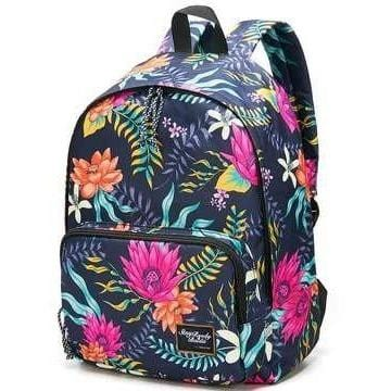 Women Water Lily Pad Prints Backpacks