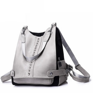 Women PU Leather Small Teenage Backpack - FashionzR4U
