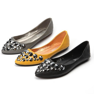 Women Mocassins Leather Flat Shoes - FashionzR4U