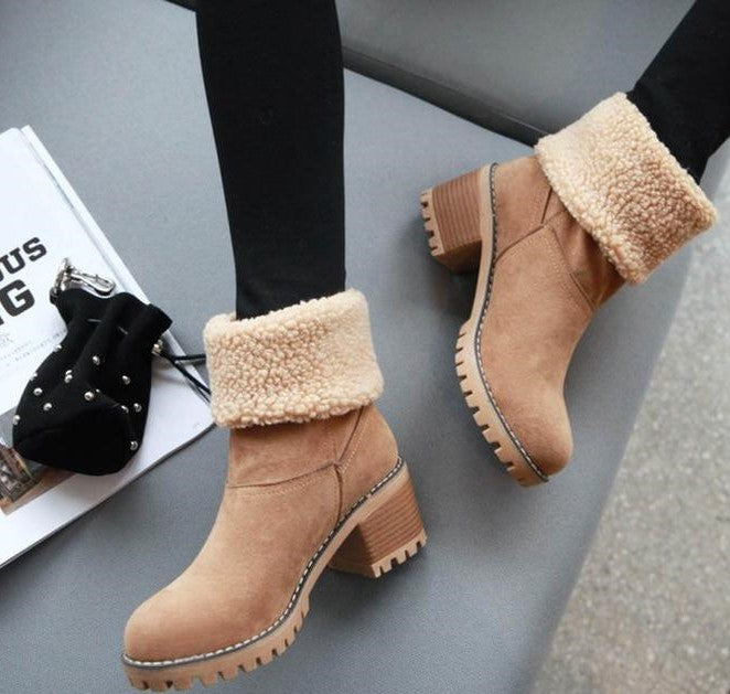 Women Flock Warm Winter Boots - FashionzR4U