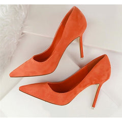 Women Korean Design Pointed Toe Shallow Shoes - FashionzR4U