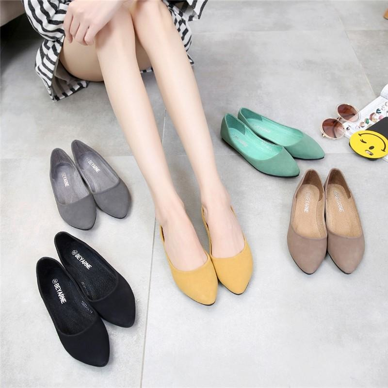 Women Pointed Toe Heel Flat Heel Shoes - FashionzR4U