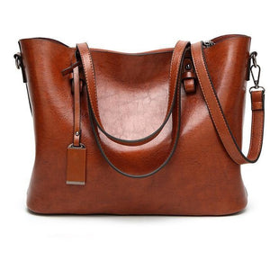 Women Shoulder High Capacity Simple Casual Tote Handbag - FashionzR4U