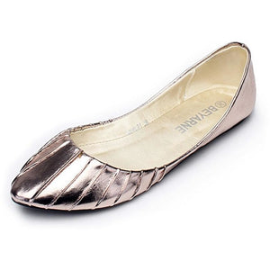 Women Soft Outsole Flat Heel Pointed Toe Shoes - FashionzR4U