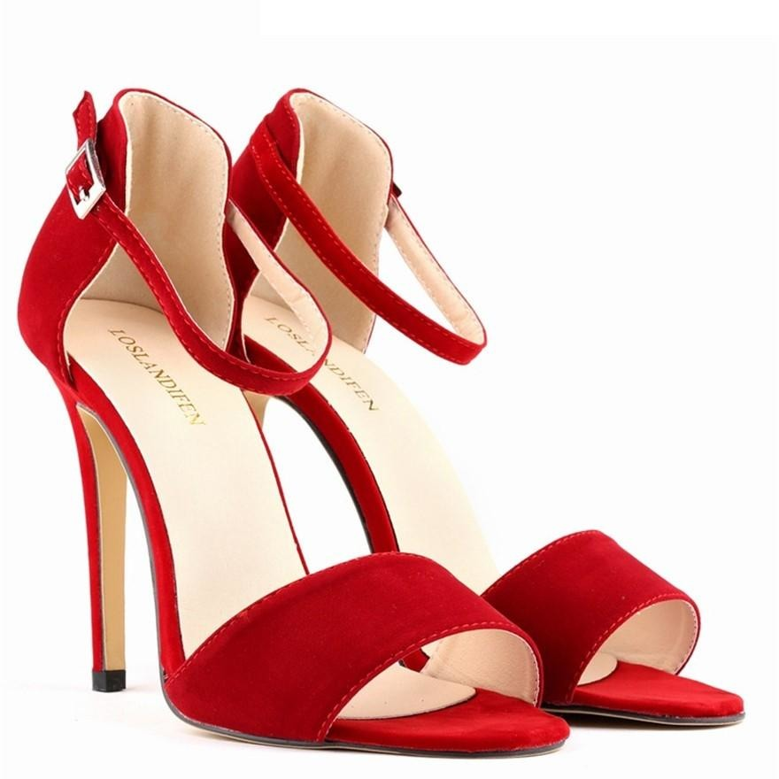 Women Solid Slim High Heel Shoes - FashionzR4U