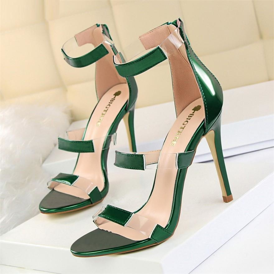 Women Transparent Leather Open Toe Shoes - FashionzR4U