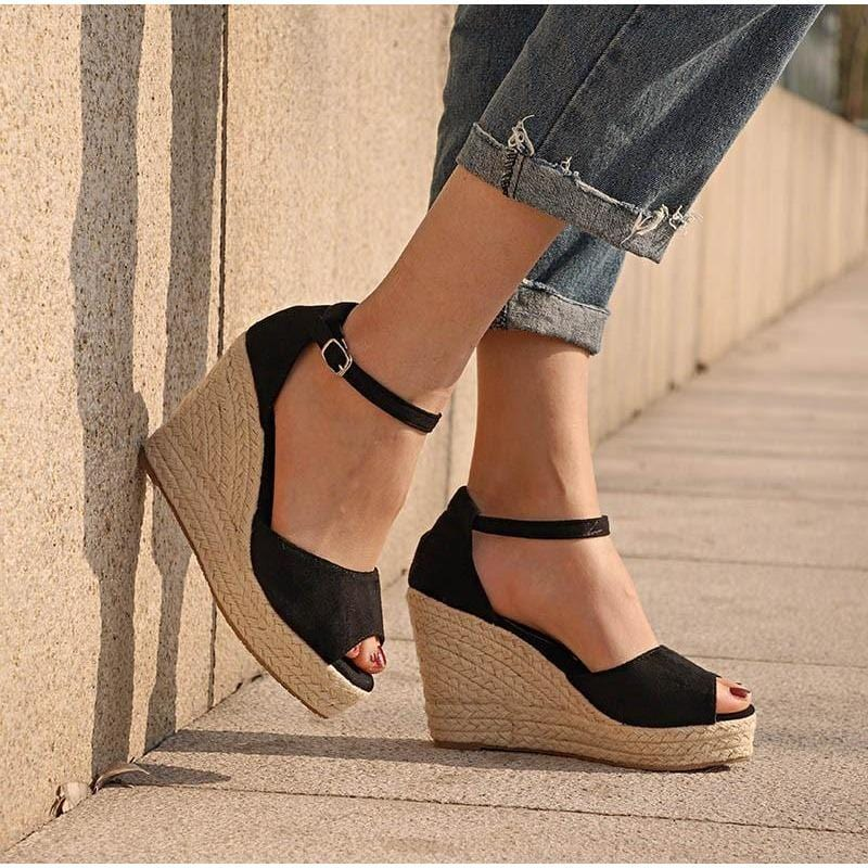 Women Wedge Strap Ankle Shoes - FashionzR4U