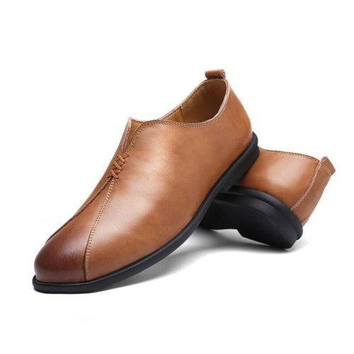 Men Genuine Leather Driving Leisure Shoes - FashionzR4U