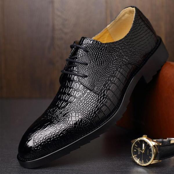 Men Business Casual Dress Leather Shoes