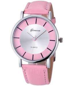 Women Geneva Casual Leather Analog Quartz Watch - FashionzR4U