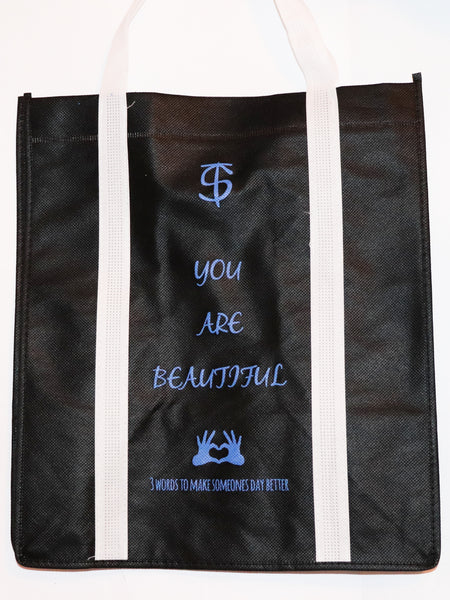 "Men's ""You Are Beautiful"" Tote bag - Inspirational Bags by Thomas Scott"
