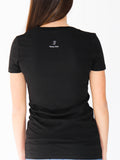 Women's Short Sleeve V-Neck -Black - Motivational Shirts by Thomas Scott