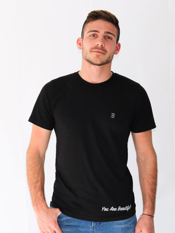 Men's Inspirational Short Sleeve T-Shirt -Black