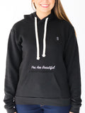 Women's Hooded Sweatshirt -Black - Inspirational Sweatshirt by Thomas Scott