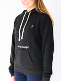 Women's Hooded Sweatshirt -Black - Motivational Sweatshirt by Thomas Scott