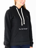 Women's Hooded Sweatshirt -Black - Inspiring Sweatshirt by Thomas Scott