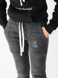 Women's Joggers -Charcoal - Motivational Joggers by Thomas Scott