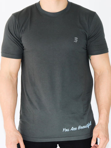 Men's Inspirational Short Sleeve T-Shirt -Slate